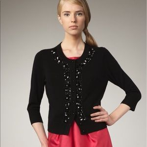 Kate Spade Black Embellished Jeweled Cardigan